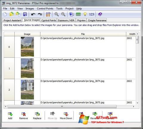 स्क्रीनशॉट PTGui Windows 7