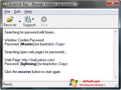 स्क्रीनशॉट Asterisk Key Windows 7