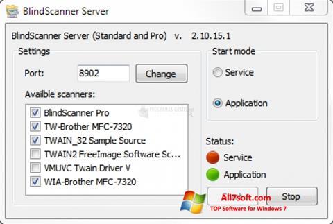 स्क्रीनशॉट BlindScanner Windows 7