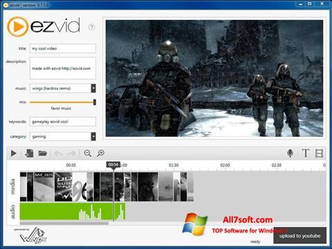 स्क्रीनशॉट Ezvid Windows 7