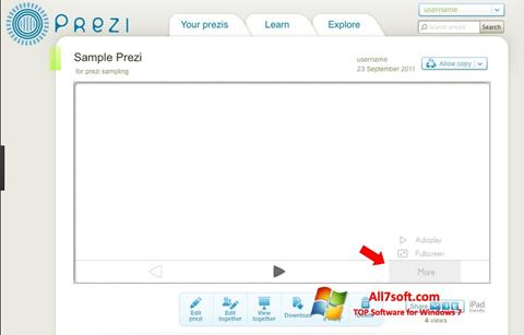 स्क्रीनशॉट Prezi Windows 7