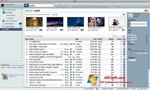 स्क्रीनशॉट Vuze Windows 7