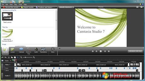 स्क्रीनशॉट Camtasia Studio Windows 7
