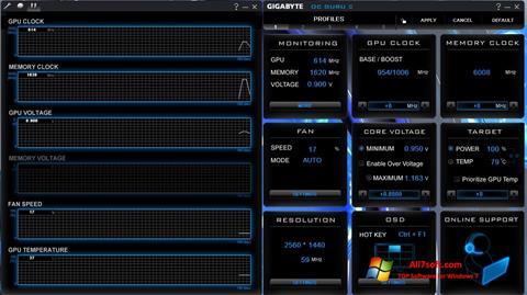 स्क्रीनशॉट GIGABYTE OC Guru Windows 7