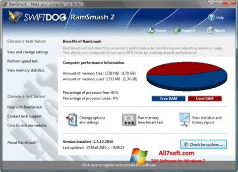 स्क्रीनशॉट RamSmash Windows 7