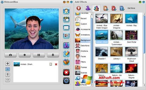 स्क्रीनशॉट WebcamMax Windows 7