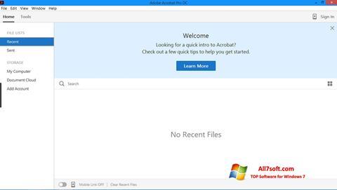 स्क्रीनशॉट Adobe Acrobat Pro Windows 7