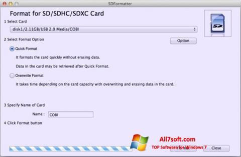 स्क्रीनशॉट SDFormatter Windows 7