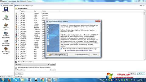 स्क्रीनशॉट BadCopy Pro Windows 7