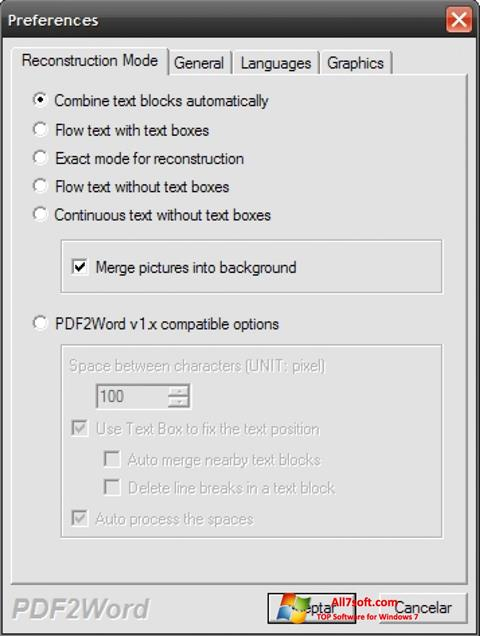 स्क्रीनशॉट PDF2Word Windows 7