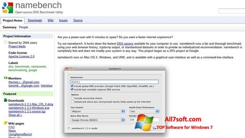स्क्रीनशॉट NameBench Windows 7