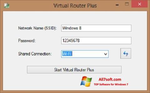 स्क्रीनशॉट Virtual Router Plus Windows 7