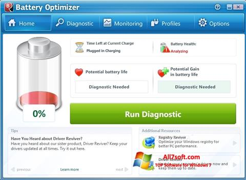 स्क्रीनशॉट Battery Optimizer Windows 7