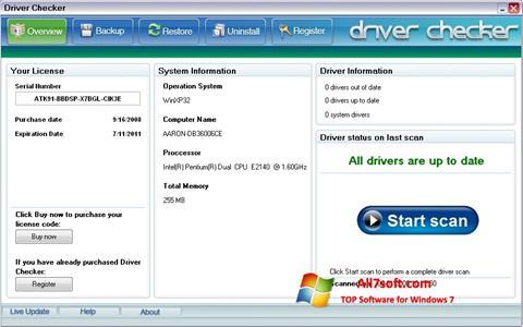 स्क्रीनशॉट Driver Checker Windows 7