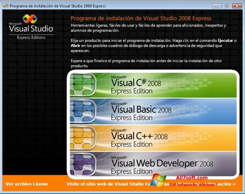 स्क्रीनशॉट Microsoft Visual Studio Windows 7