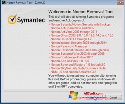 स्क्रीनशॉट Norton Removal Tool Windows 7