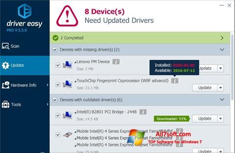 स्क्रीनशॉट Driver Easy Windows 7