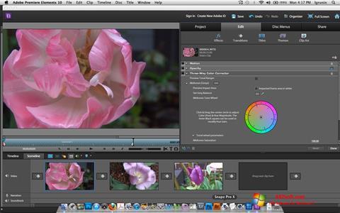 स्क्रीनशॉट Adobe Premiere Elements Windows 7