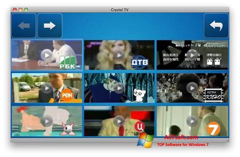 स्क्रीनशॉट Crystal TV Windows 7