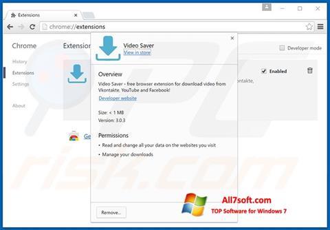 स्क्रीनशॉट VideoSaver Windows 7