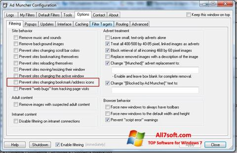स्क्रीनशॉट Ad Muncher Windows 7