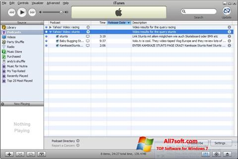 स्क्रीनशॉट iTunes Windows 7