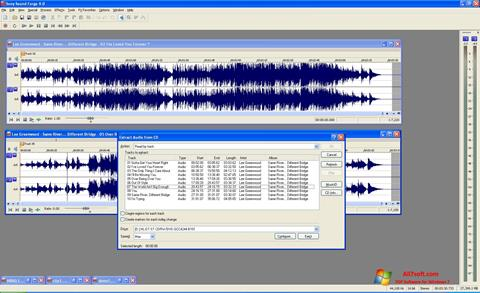 स्क्रीनशॉट Sound Forge Windows 7