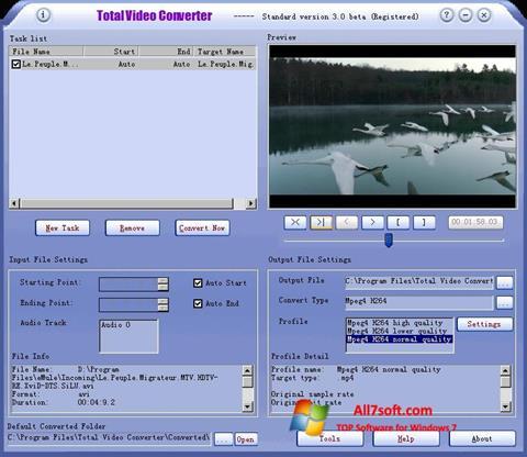 स्क्रीनशॉट Total Video Converter Windows 7