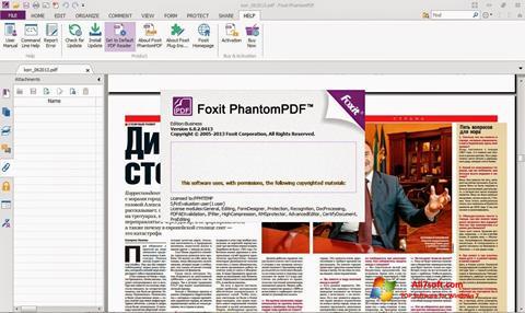 स्क्रीनशॉट Foxit Phantom Windows 7