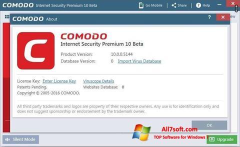 स्क्रीनशॉट Comodo Windows 7
