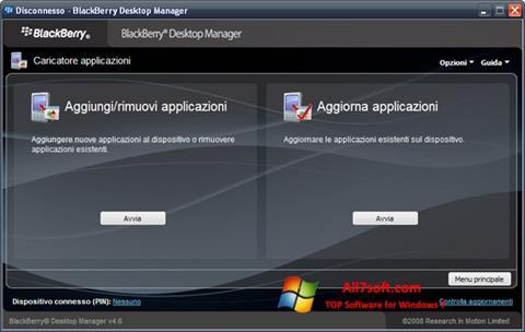 स्क्रीनशॉट BlackBerry Desktop Manager Windows 7