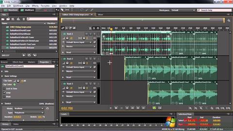 स्क्रीनशॉट Adobe Audition CC Windows 7