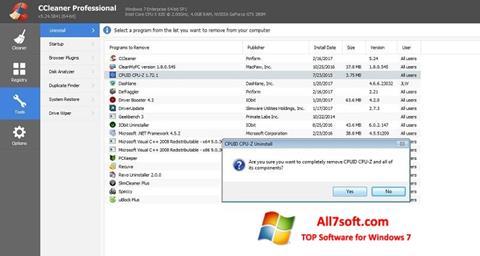 स्क्रीनशॉट CCleaner Professional Plus Windows 7