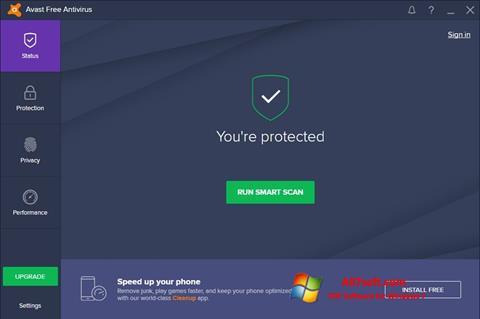 स्क्रीनशॉट Avast Free Antivirus Windows 7