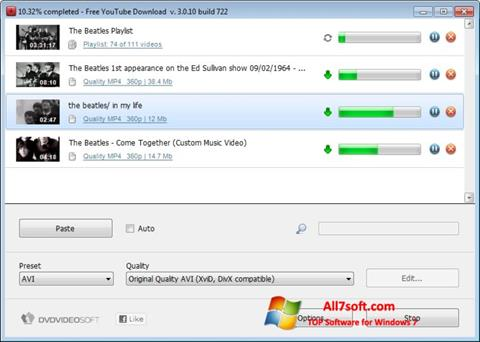 स्क्रीनशॉट Free YouTube Download Windows 7