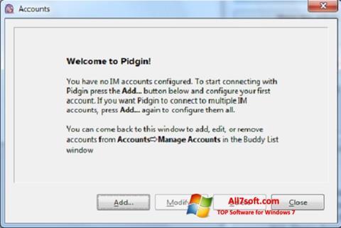 स्क्रीनशॉट Pidgin Windows 7