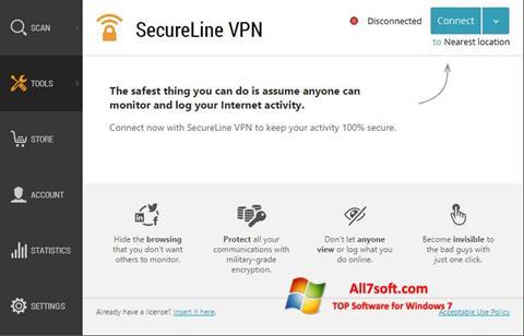 स्क्रीनशॉट Avast SecureLine VPN Windows 7