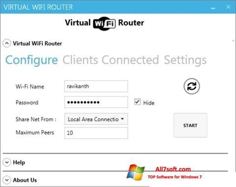 स्क्रीनशॉट Virtual WiFi Router Windows 7