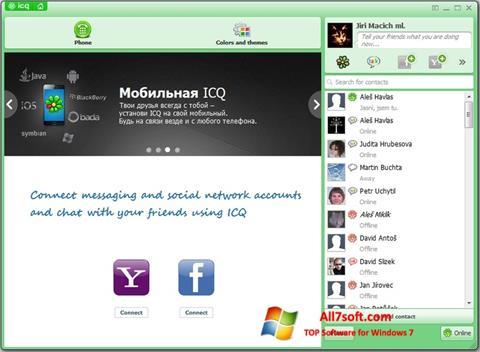 स्क्रीनशॉट ICQ Windows 7