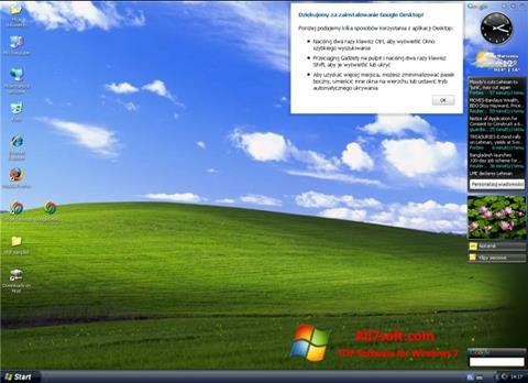 स्क्रीनशॉट Google Desktop Windows 7