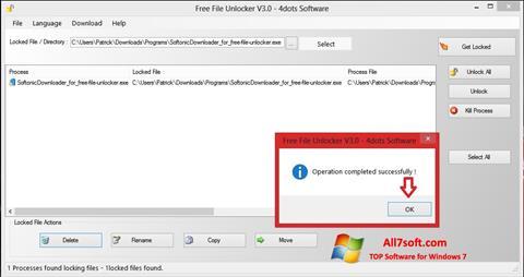 स्क्रीनशॉट Free File Unlocker Windows 7