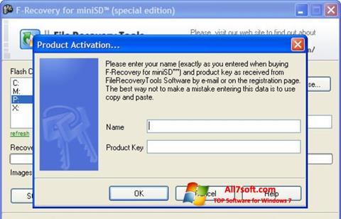 स्क्रीनशॉट F-Recovery SD Windows 7