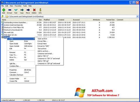 स्क्रीनशॉट 7-Zip Windows 7