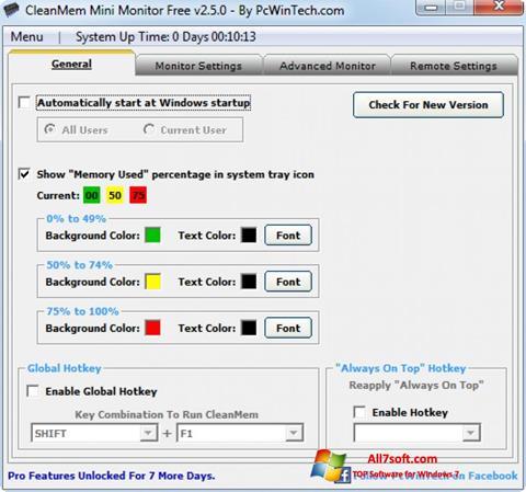 स्क्रीनशॉट CleanMem Windows 7