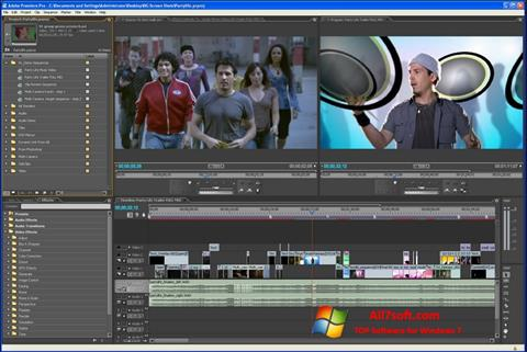 स्क्रीनशॉट Adobe Premiere Pro Windows 7