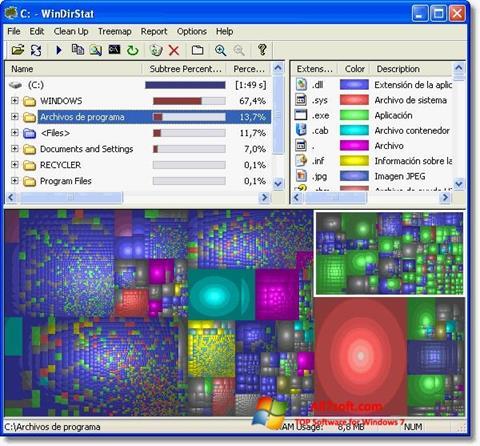 स्क्रीनशॉट WinDirStat Windows 7