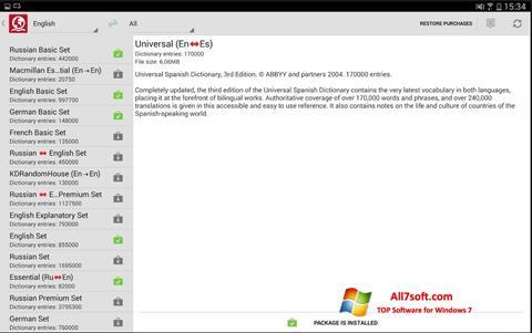 स्क्रीनशॉट ABBYY Lingvo Windows 7