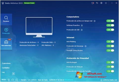 स्क्रीनशॉट Baidu Antivirus Windows 7