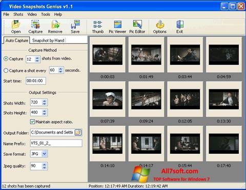 स्क्रीनशॉट SnapShot Windows 7
