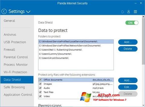 स्क्रीनशॉट Panda Internet Security Windows 7